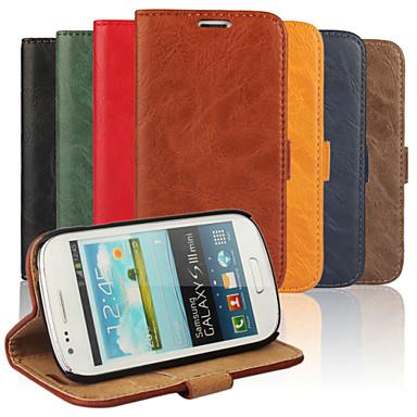 Για Samsung Galaxy Θήκη Πορτοφόλι / Θήκη καρτών / με βάση στήριξης / Ανοιγόμενη tok Πλήρης κάλυψη tok Μονόχρωμη Συνθετικό δέρμα SamsungS3