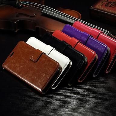 cartão da carteira padrão de cavalo louco de couro pu caso de corpo inteiro com slot suporte para Alcatel One Touch pop c7 (cores