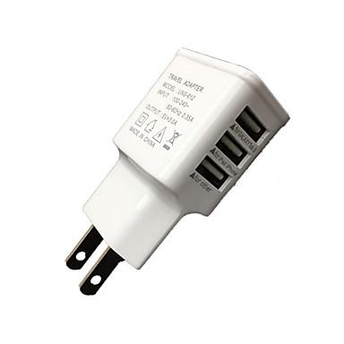 Cwxuan Ev Şarj Cihazı / Taşınabilir şarj USB Şarj Aleti EU Priz Çoklu Bağlantı Noktası 3 USB Bağlantı Noktası 3 A için