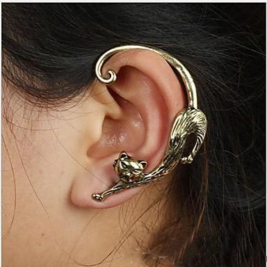 Γυναικεία Χειροπέδες Ear Εξατομικευόμενο Πανκ Κράμα Γάτα Ζώο Κοσμήματα Γάμου Πάρτι Καθημερινά Causal Κοστούμια Κοσμήματα