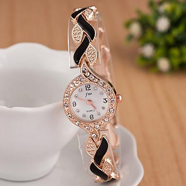 yoonheel Mulheres Simulado Diamante Relógio Relógio de Pulso Bracele Relógio Relógio de Moda Quartzo imitação de diamante Metal Banda