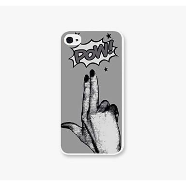 Pow pc μοτίβο πίσω υπόθεση για iphone4 / 4s