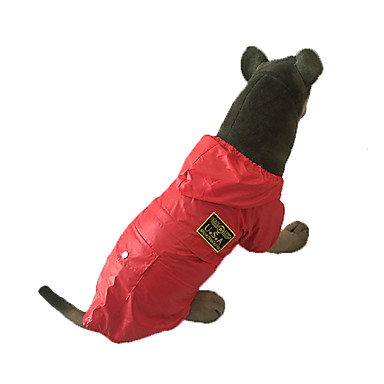 cheap Dog Clothing & Accessories-Dog Rain Coat Dog Clothes Police / Military Red Blue Cotton Costume For Spring &  Fall Waterproof