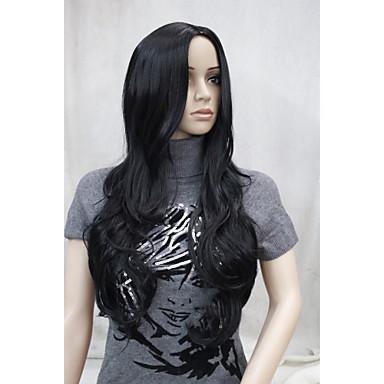 Συνθετικές Περούκες Κυματιστό Με αφέλειες Γυναικεία Χωρίς κάλυμμα Συνθετικά μαλλιά