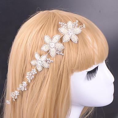 Mulheres com tiras de liga com casamento de strass / festa estilo cabeça elegante