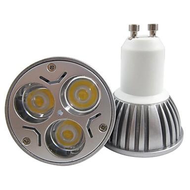 3W GU10 Lâmpadas de Foco de LED MR16 3 LED de Alta Potência 250-300 lm Branco Quente / Branco Frio AC 85-265 V 1 pç