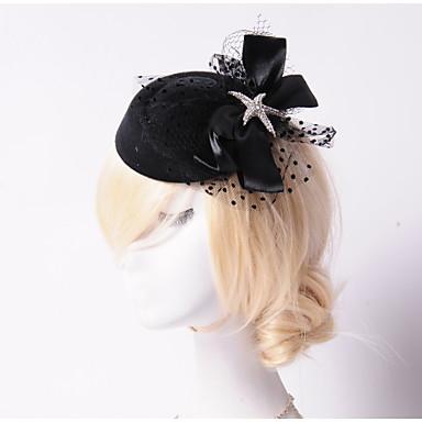 Γυναικείο Στρας Τούλι Βαμβακοφανέλλα Headpiece-Γάμος Ειδική Περίσταση Υπαίθριο Λουλούδια Καπέλα 1 Τεμάχιο