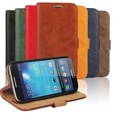 tok Για Samsung Galaxy Samsung Galaxy Θήκη Θήκη καρτών Πορτοφόλι με βάση στήριξης Ανοιγόμενη Πλήρης Θήκη Συμπαγές Χρώμα PU δέρμα για S4
