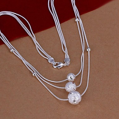 Dames Verklaring Kettingen Verzilverd Modieus Kostuum juwelen Sieraden Voor Bruiloft Feest Dagelijks Causaal