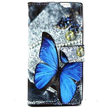 Capinha Para Nokia Nokia Lumia 830 Capinha Nokia Porta-Cartão Carteira Com Suporte Capa Proteção Completa Borboleta Rígida PU Leather para