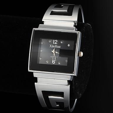 Kadın's Bayan Bilezik Saat Quartz Gündelik Saatler Alaşım Bant Analog Halhal Moda Gümüş İki yıl Pil Ömrü / SOXEY SR626SW