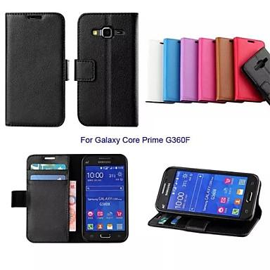 new business solide lederen tas met standaard voor de Samsung Galaxy kern prime G360F