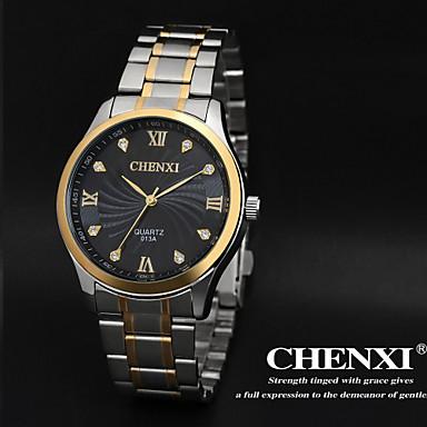 رخيصةأون ساعات الرجال-CHENXI® رجالي ساعة المعصم كوارتز ستانلس ستيل فضة مماثل سحر كلاسيكي - ذهبي أبيض أسود