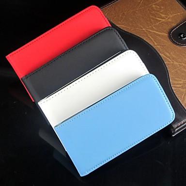 abrem-se para baixo e cor sólida pu couro corpo cheio de protecção e para o iPhone 4 / 4S (cores sortidas)