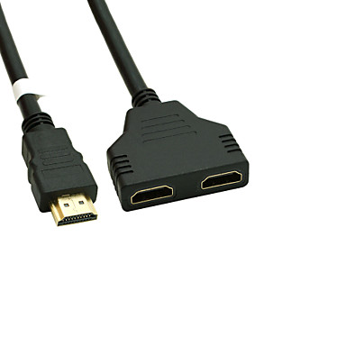 cheap 50% OFF & Up-Gold Plated HDMI V 1.4 Male to Dual HDMI Female Adapter Splitter Cable