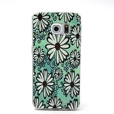 Για Samsung Galaxy Θήκη Εξαιρετικά λεπτή / Ανάγλυφη tok Πίσω Κάλυμμα tok Λουλούδι TPU Samsung S6 edge