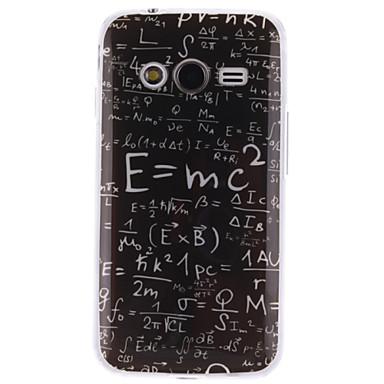Voor Samsung Galaxy hoesje Patroon hoesje Achterkantje hoesje Woord / tekst TPU Samsung Ace 4