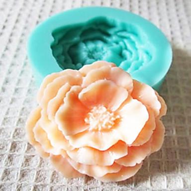 bakeware silicone rosa moldes de cozimento para o bolo de chocolate fondant (cores aleatórias)