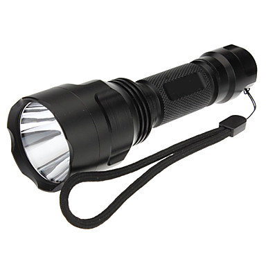 C8 LED Flashlights / Torch Handheld Flashlights/Torch LED 200 lm 5 Mode Cree XR-E Q5 Rechargeable Tactical for Camping/Hiking/Caving