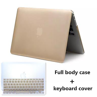 style métal PVC dur cas complet du corps et TPU couvercle du clavier pour MacBook 15,4 pouces rétine (couleurs assorties)