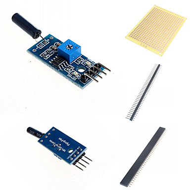 módulo sensor de vibração e acessórios para arduino