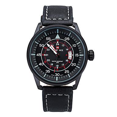 Masculino Relógio de Moda Quartzo Impermeável Banda Preto Prata