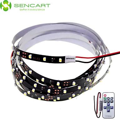 SENCART 2m Ευέλικτες LED Φωτολωρίδες 120 LEDs Άσπρο Τηλεχειριστήριο / Μπορεί να κοπεί / Με ροοστάτη 12V / 3528 SMD / Συνδέσιμο