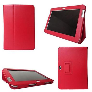 Para Samsung Galaxy Capinhas Com Suporte / Flip Capinha Corpo Inteiro Capinha Cor Única Couro PU SamsungTab 4 10.1 / Tab 4 8.0 / Tab 4