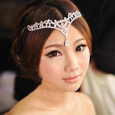 5b42ff0cc4303 الكورية العروس تاج الزفاف جبين الطائر اكسسوارات الزفاف أبيض أحمر النمط  الصيني