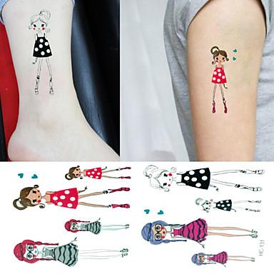 3 - 6*5 - Πολύχρωμο Άλλα - Αυτοκόλλητα Τατουάζ - Non Toxic/Μοτίβο/Χαμηλά στην Πλάτη/Waterproof - από Χαρτί για
