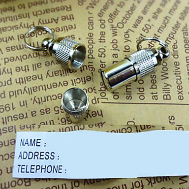 Chat Chien Etiquettes Tags ID Sécurité Couleur Pleine Aluminium Blanc/Argent