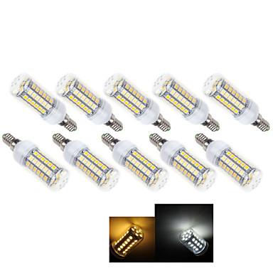 10pçs 3W 490-600 lm E14 Lâmpadas Espiga 49 leds SMD 5050 Branco Quente Branco Frio 2800-3500/6000-6500 K AC 220-240 V