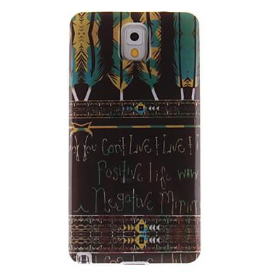 Para Samsung Galaxy Note IMD Capinha Capa Traseira Capinha Pena TPU Samsung Note 3