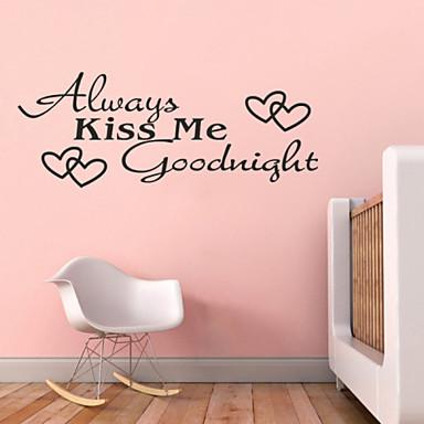 sempre me beija á noite citações zy8053 Adesivo de murais artes Parede de vinil adesivos de parede de decoração para casa