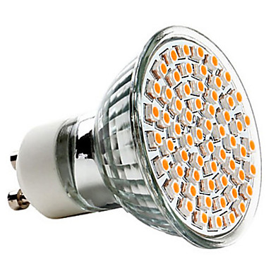 3 W 250-350 lm GU10 LED-spotlampen MR16 60 LED-kralen SMD 3528 Warm wit 220-240 V / CE
