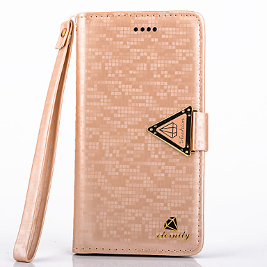 Voor Samsung Galaxy hoesje Kaarthouder / met standaard / Flip hoesje Volledige behuizing hoesje Effen kleur PU-leer Samsung S4