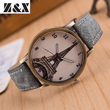 Dames Modieus horloge Kwarts Hot Sale Leer Band Vintage Zwart Wit Blauw Rood Bruin Groen Grijs Geel roze