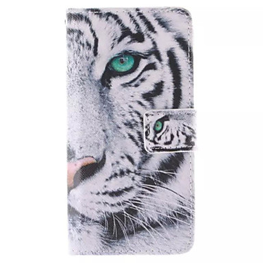 Para Samsung Galaxy Capinhas Carteira / Porta-Cartão / Com Suporte / Flip Capinha Corpo Inteiro Capinha Animal Couro PU Samsung S6 edge