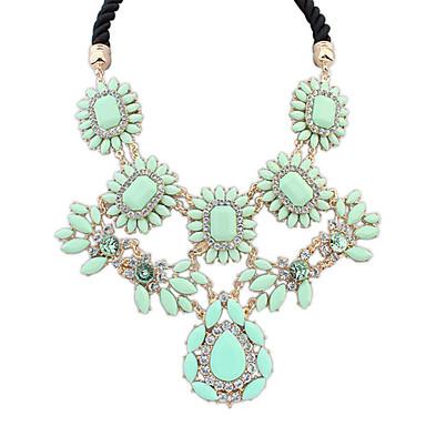billige Mode Halskæde-Dame Kort halskæde Harpiks Damer Luksus Europæisk Lys pink Regnbue Lys Grøn Halskæder Smykker Til Daglig