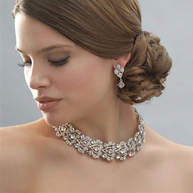 Κοσμήματα Κολιέ / Cercei Birthstones Γενέθλια / Αρραβώνας / Γάμου / Πάρτι Κράμα / Στρας 1set Γυναικεία Ασημί Δώρα Γάμου