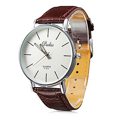 Homens Quartzo Relógio de Pulso Japanês Relógio Casual PU Banda Casual Minimalista Preta Branco Vermelho Marrom