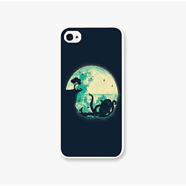 o caso padrão lua telefone pc tampa traseira caso para iPhone5 / 5