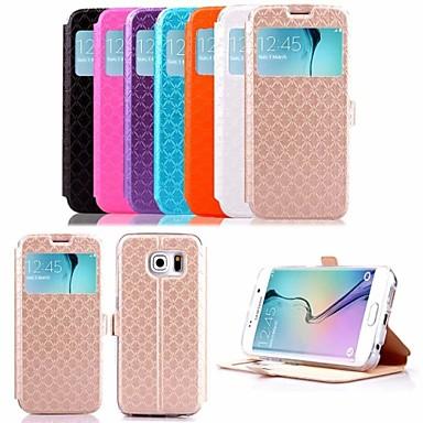 Para Samsung Galaxy Capinhas Porta-Cartão / Com Suporte / com Visor / Flip Capinha Corpo Inteiro Capinha Estampa Geométrica Couro PU