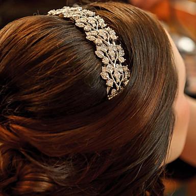 Kristal Stof Legering tiaras Hiusten kaltaiset 1 Bruiloft Speciale gelegenheden  Feest / Uitgaan Helm