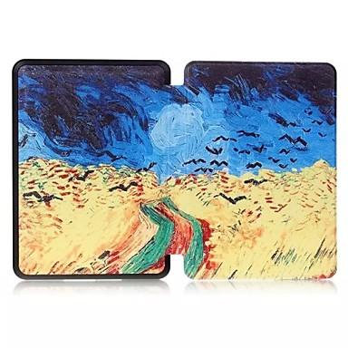 hoge kwaliteit kleurrijke flip pu lederen case voor de Kindle voyage