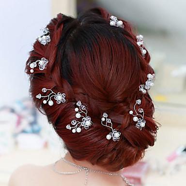 Cristal Resina Tecido Tiaras Pino de cabelo 1 Casamento Ocasião Especial Festa / Noite Capacete