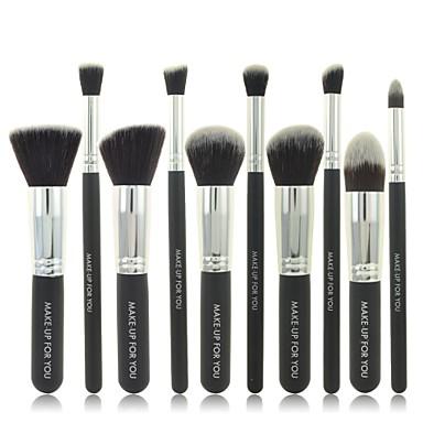 10 Brush Sets Synthetisch haar / Nylonkwast Reizen Gezicht / Lip / Oog Overige
