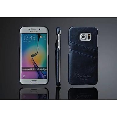 Για Samsung Galaxy Θήκη Θήκη καρτών tok Πίσω Κάλυμμα tok Μονόχρωμη Συνθετικό δέρμα Samsung S6 edge