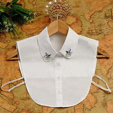billige Perle Halskæde-Dame Perle Lyserød Krave Damer Luksus Mode Perle Simuleret diamant Hvid Halskæder Smykker Til Speciel Lejlighed Fødselsdag Gave