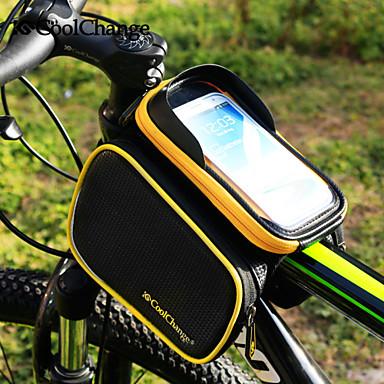 CoolChange Bolsa para Quadro de Bicicleta Mochila de Ciclismo Acessórios para Aventura Bolsa Celular 6.2 polegada Lista Reflectora Á